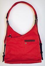 BAGGALINI Women Shoulder Bag Nylon Scarlet Red-Orange Zip Closures
