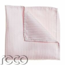 Boys Striped Baby Pink Pocket Square, Boys Handkerchief, Pocket Handkerchief