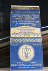 Rare Vintage Matchbook Cover B3 New York City Wire Rope Twine Canvas PW Redi