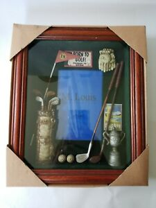 Golf Sports Shadow Box M Louis Photo Picture Frame Wall Tabletop Decor New 9x11""