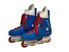 Blade Runner Rollerblade Vintage Inline Skates Red White Blue Italy Size 7 90's