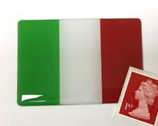 Itailian Flag Sticker Super Shiny Domed Finish Green, White & Red 64mm - Italy