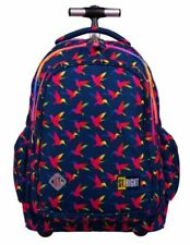 SCHOOL BACKPACK TROLLEY BAG ST.RIGHT RAINBOW BIRDS - ST. MAJEWSKI