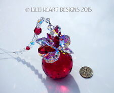 m/w Swarovski 40mm Red Aurora Christmas Pineapple Suncatcher Lilli Heart Designs