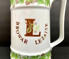 Browar Lezajsk Polish Brewery Set Pitcher Mugs Cups Steins Porcelain Cmielow
