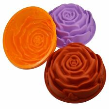 Colorful Big Rose Flower Cake Baking Pans Tray Silicone Bread Bakeware Mold