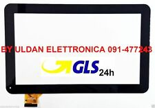 """TOUCH SCREEN MAJESTIC TAB 301 3G VETRO Tablet Digitizer 10,1"""" Nero - GLS 24H"""