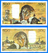 France 500 Francs 1975 6 November Serie V Pascal Europe Frcs Frcs Free Ship Wld