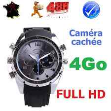 MONTRE CAMERA CACHEE ESPION FULL HD VIDEO1920x1080 VISION NOCTURNE ETANCHE 4Go