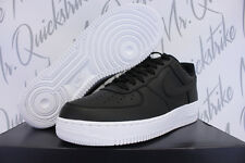 NIKE AIR FORCE 1 PREMIUM SZ 12 REFLECTIVE SWOOSH BLACK WHITE 3M 905345 001