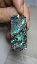 Opal Pendant 14K Gold In Matrix Estate Jewelry Stunning Fire Color