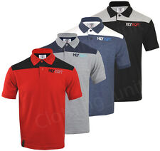 Mens Short Sleeve Plain Polo Shirt T Shirt Top Casual Cotton Rich Mix S-XXL