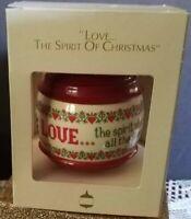 "Vintage Hallmark ""Love…The Spirit of Christmas"" Ornament, 1983"