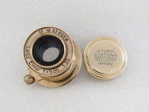 Leitz Elmar MTR f3,5/5cm Russian EXCELLENT Gold M39 Lens to 35mm Camera Leica-II