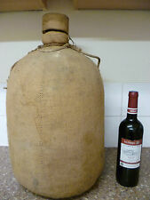 ANTIQUE FRENCH, LARGE HESSIAN & CORK COVERED, GLASS WINE CARBOY. WINE DEMIJOHN