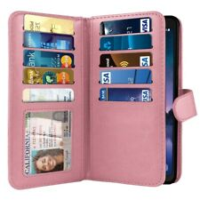 """For Samsung Galaxy S8 Active G892A 5.8"""" Pink PU Leather Wallet Cover Case Pouch"""