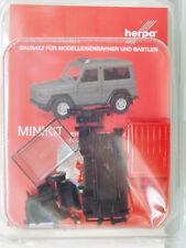 Herpa 013086 Minikit - 1:87 - MB MODELLO G,Rosso - Barra luminosa blu beigelegt-