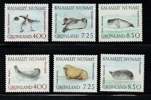 Greenland Sc 233-8 1991 Walrus & Seals stamp set mint NH