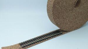 3mm X 35mm OO-gauge model railway cork track underlay roll (10m)