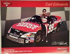 Carl Edwards #99 Office Depot Postcard