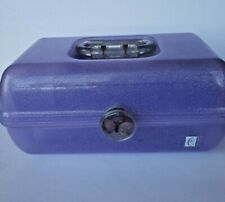 Vintage CABOODLES Makeup Case Travel Kit Sparkle Purple Organizer 1980s 2622