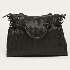 Kids Line Luxury Designer Baby Changing Bag Black Faux Leather with Mat