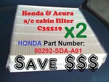 Double Pack Cabin Air Filter For HONDA ACURA Accord Civic CRV Odyssey Save$$