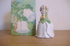 ~Avon~Good Luck Bell~Porcelain~Pixie And 4 Leaf Clovers~