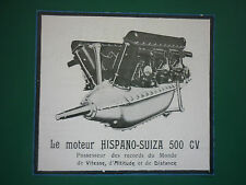 7/1926 PUB HISPANO-SUIZA MOTEUR AVIATION 500 CV RECORD VITESSE ALTITUDE AD