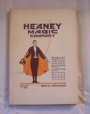 Sales Catalog Heaney Magic Tricks Jokes Stage Card Book Magician Stage Act Prop