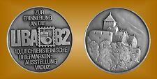 Medaille Gedenkprägung 10. LIBA 82 Liechtenstein Briefmarkenausstellung Vaduz