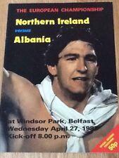 Northern Ireland v Albania - European Championship Group 6 Qualifier 27Apr83
