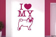 I Love My Dog Vinilo Pegatinas De Pared Adhesivo Decoración