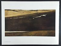 Andrew Wyeth Gravure Print HOFFMAN'S SLOUGH & FLOCK OF CROWS, Pennsylvania