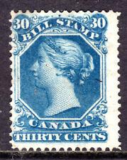 CANADA SECOND BILL STAMP #FB29 30c BLUE, 1865 PERF13½, UNUSED