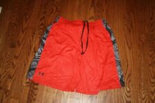 UNDER ARMOUR MEN'S RED BLACK SHORTS SIZE XL X-LARGE STYLE 1236424 600