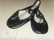 Used Girls jazz shoes soft style all black size 2 Freestyle by Danskin worn 3 mo