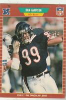 FREE SHIPPING-MINT-1989 Pro Set Dan Hampton #41 BEARS PLUS BONUS CARDS