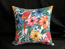 Red Orange Yellow White Tropical Look Flower Birds Cushion Cover 45cm Au Made
