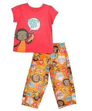 Carter's Little Girls' Talking to My BFF Monkey Pajama Set (4)