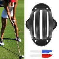 Marqueur ligne balle golf avec dessin au stylo mettant modèle pochoir couleur SH