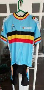 Belgium cycling jersey and gel bib shorts tour de france bike