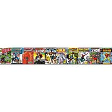 Marvel Comic Book Front Covers on Sure Strip Mural Wallpaper Border DY0274BD