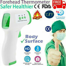 Ce Medical Grade Non-Contact Infrared Forehead Thermometer Lcd Laser Ir Usa Ship