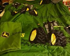 John Deere Comforter And Pillow Sham Size Twin Small Flaw Bed Set