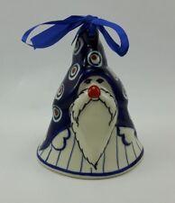 Bunzlauer Keramik Weihnachtsmann-Glocke, Weihnachten, Deko, (D017-54A)