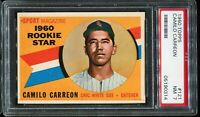 1960 Topps Baseball #121 CAMILO CARREON Chicago White Sox Rookie Star PSA 7 NM