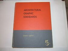1957 ARCHITECTURAL GRAPHIC STANDARDS BOOK BY RAMSEY & SLEEPER - 758 PAGES