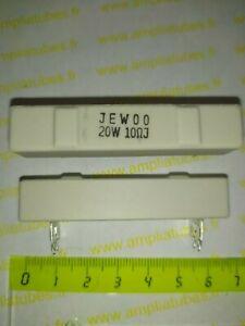 Résistance Ciment 20w 10 ohm              Lot 2 Pcs              (DepF13h2)