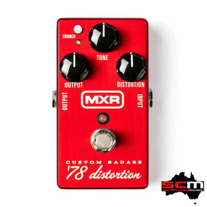 MXR M78 Custom Badass '78 Distortion Electric Guitar Effects FX Pedal Jim Dunlop